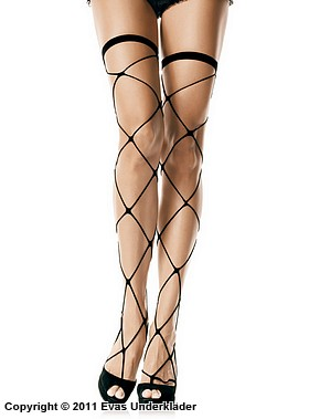 Stockings i stormaskigt nät