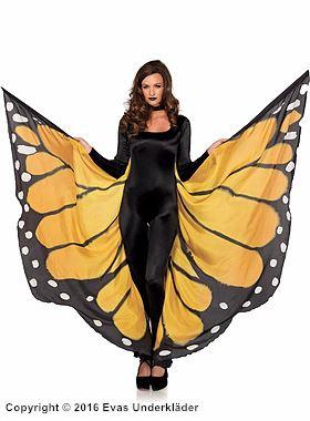 Stora fjärilsvingar/cape, maskeradaccessoar