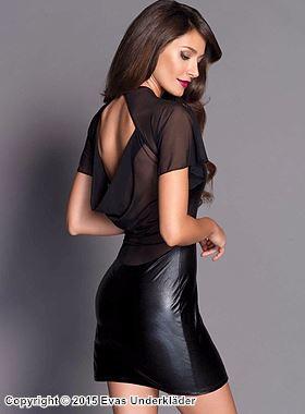 Lamé-klänning med skir rygg