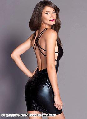 Lamé-klänning med öppen rygg