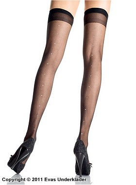 Stockings med strass, plus size