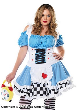 Alice i underlandet, maskeradkläder, plus size