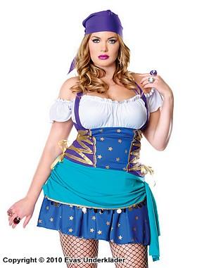 Zigensk prinsessa, maskeradkläder, plus size