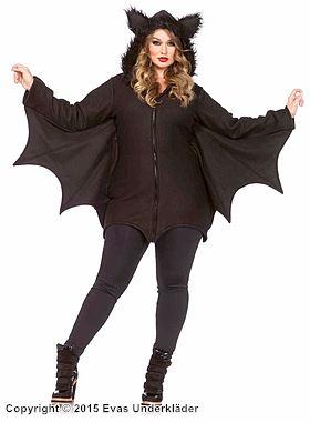 Fladdermus, maskeradklänning, plus size