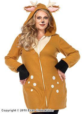 Mysig bambi-klänning, plus size
