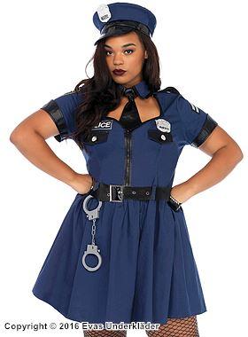 Polisklänning, maskeraddräkt i 5 delar