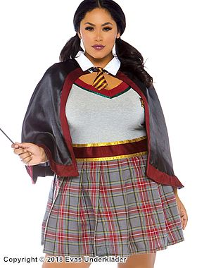 Hermione, förhäxande maskeraddräkt, plus size