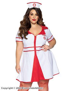 Sjuksköterskeklänning, maskeraddräkt, plus size