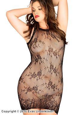 Spetsklänning med öppen rygg, plus size
