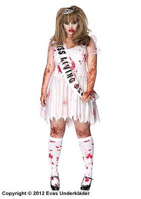 Zombie, balens drottning, maskeradkostym, plus size
