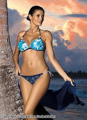 Blommigt bikini-set