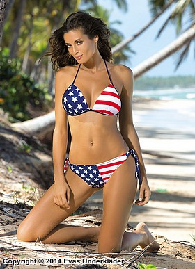 Bikini-set med amerikanska flaggan
