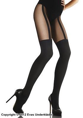 Strumpbyxa med stockings-mönster
