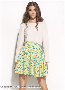 Kjol med färgglada pepita-rutor