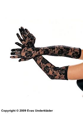 Långa handskar i spets