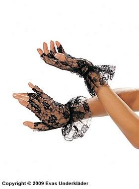 Fingerlösa spetshandskar