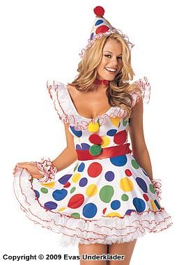 Söt clownflicka