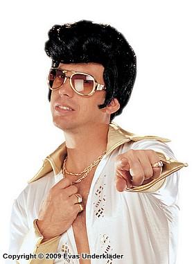 Svart Elvis-peruk