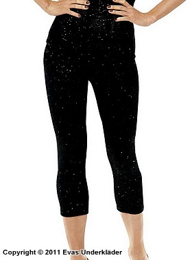 Glittrande leggings