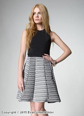 A-linjeformad klänning med mönstrad kjol d8f37d8e9f8a8