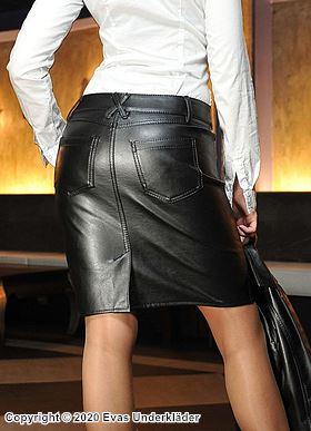 Elegant skinnkjol med fickor, XS - 5XL