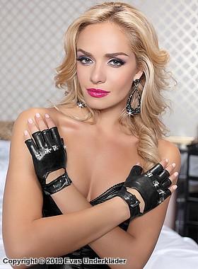 Fingerlösa handskar med nitar