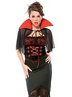 Elegant vampyr, maskeraddräkt i fyra delar
