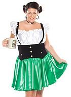 Oktoberfest servitris, maskeradklänning i 2 delar, plus size
