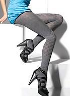 Eleganta strumpbyxor med subtilt mönster, 40 den