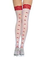 Stockings med små rosetter