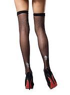 Stockings med spindenätsmönster
