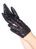 Extra korta handskar med paljetter