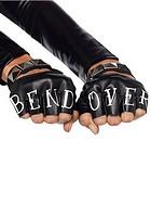 Fingerlösa handskar med tryck