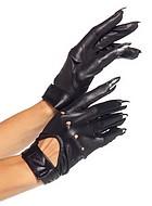 Korta handskar med klor