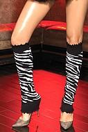 Benvärmare med zebramönster