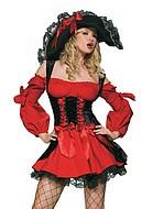 Lyxig sjörövarkostym, maskeradkläder