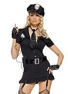 Välutrustad polis, maskeraddräkt