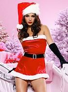 Jultomteklänning med bälte