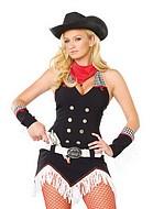 Cowgirl-kostym, maskeraddräkt