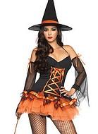 Förförisk halloweenhäxa, maskeradkläder