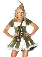Kvinnlig Robin Hood, maskeradkläder