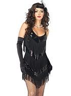 20-tals klänning med fransar och paljetter, maskeradkläder