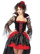 Elegant vampyr, maskeradkläder