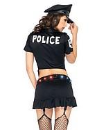 Polisklänning med lysande bälte, maskeradkostym