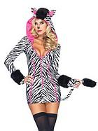 Charmig zebra, maskeradkostym