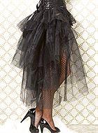 Fluffig kjol med spets