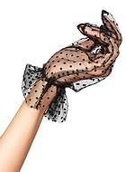 Skir handske med prickar