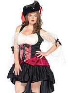 Piratklänning med spetsärmar, plus size