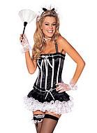 French maid, maskeradkläder med korsett