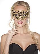 Handhållen leopardmask